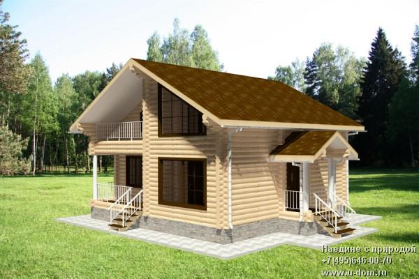 Проекты деревянных домов из оцилиндрованного бревна в калужс.