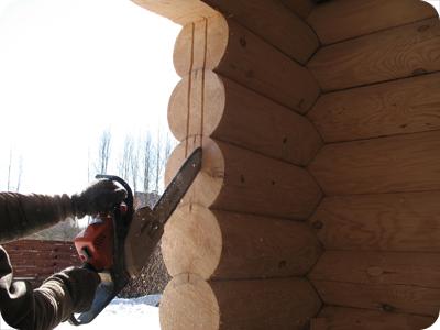 монтаж окон в деревянные